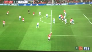 Lovely cross from Martial and great header from Mike Smalling - Video