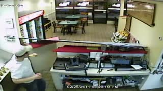 Disgruntled Fast Food Customer Does Some Damage - Video