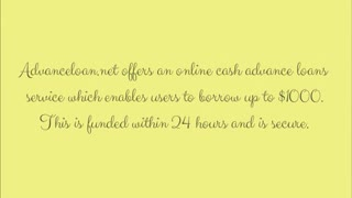 • Cash advance loans - Video
