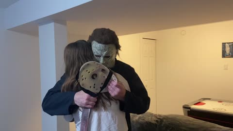 Horror Icon Michael Myers receives the WRONG mask as a present