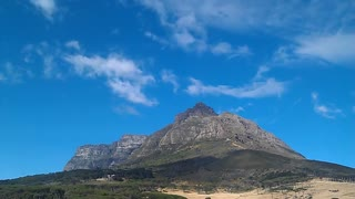 Time-lapse of Clouds over Table Mountain - Devil's Peak Cape Town