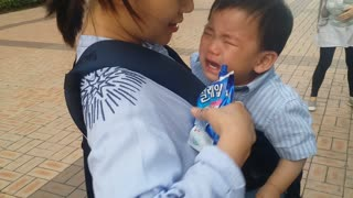 Adorable baby Cries For Ice Cream