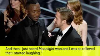 Ryan Gosling Explains Why He Laughed During The Oscars Mix-Up | News Flash | Entertainment Weekly - Video