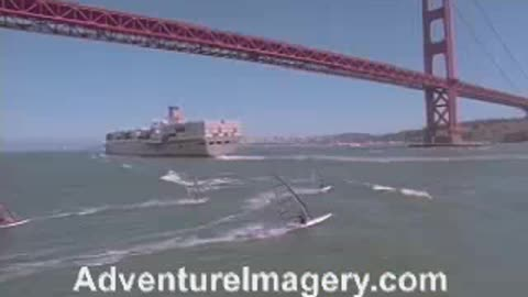 Extreme Sports Stock Footage windsurfing
