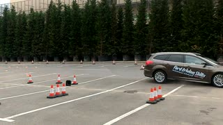 Vehicle brake test doesn't exactly go as planned - Video