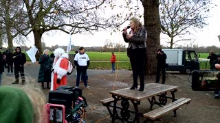 Prof. Dolores Cahill PhD Speech - Santa's Save Christmas protest - London - 12/12/20