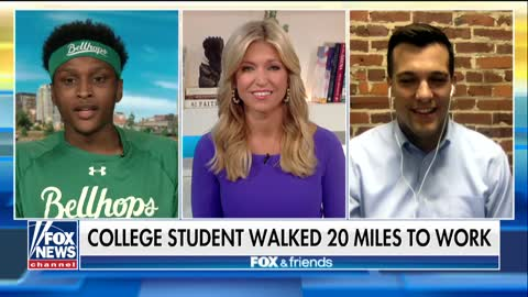 Student sets off on 20 mile walk so he doesn't miss first day on job