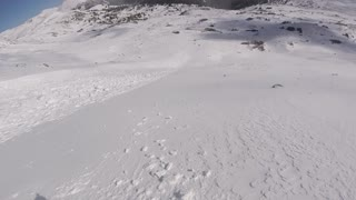 Skier Escapes Early Season Avalanche