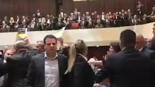 WATCH: Seconds Into His Speech In Israel, Mike Pence Is Interrupted By a Brawl - Video