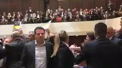 WATCH: Seconds Into His Speech In Israel, Mike Pence Is Interrupted By a Brawl