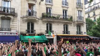 Irish fans at Euro 2016 serenade random French man on balcony - Video