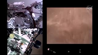 First video of Perseverance landing on Mars