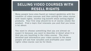Selling Video Courses With Resell Rights