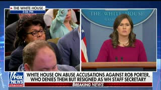 Sanders Goes At It With Reporter Over Trump and Domestic Violence Against Women Act - Video