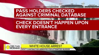 Secret Service arrests White House contractor with outstanding warrant for attempted murder - Video