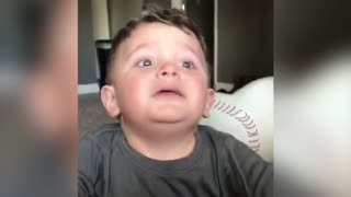 Baby Boy Is Terrified After Dad Takes His Nose - Video