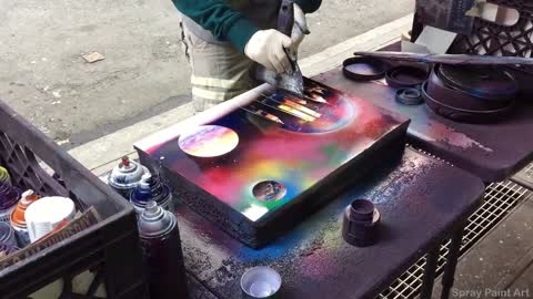 Spray Paint Street Artist Designs Jaw-Dropping Painting