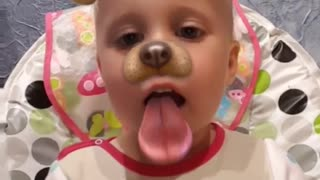 HILARIOUS Baby SNAPCHAT Puppy Face Post !!! - Video