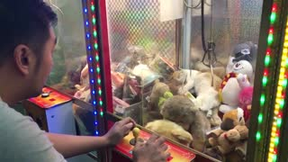 Curious Cat Stuck In Claw Machine - Video