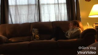 Girl Hilarious reaction while watching horror movie - Video