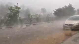 Heavy rain in Bangladesh, very dangerous rain  - Video