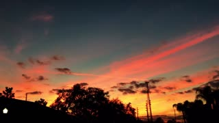 Must see - Gorgeous pink and gold FL sunset - Video