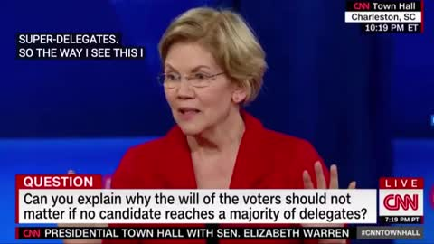 Warren is questioned at CNN-hosted town hall