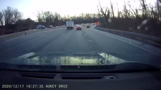 Ice Flies From Box Truck Roof