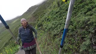 Crazy Woman Attacks Family While Hiking - Video