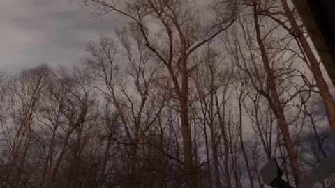 Time lapse of stars moving winter night