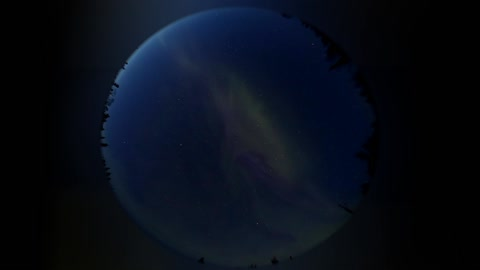 Powerful aurora before the spring equinox