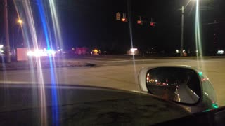 Police Chase Truck Running on Rims