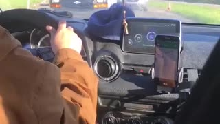 Man Drives Down Wrong Side of Road - Video