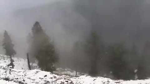 First Snow fall of this season at peer chanasi kashmir