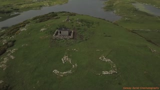 Drone Captures WWII Lookout Tower On Top Of Doon Hill In Ireland - Video
