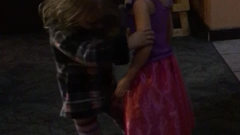Baby Dances With Life Size Doll
