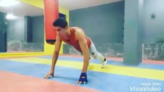 Push-ups exercise