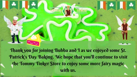 Bubba Helps Bake for a St. Patrick's Day Celebration