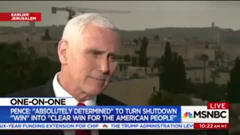 Pence Hits Back Hard When Anchor Asks if He 'Broke Precedent' Attacking Dems In Front of Troops