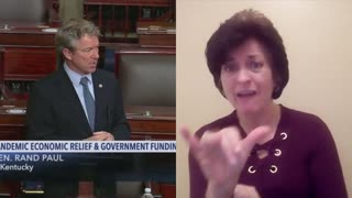 ASL Interpretation: Rand Paul EXPLODES On Senate Floor Over $600 COVID Stimulus Checks