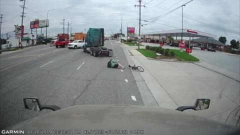 Cyclist T-Boned by Truck