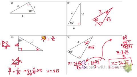 30 60 90 special right triangles part 2