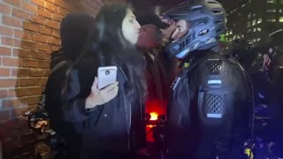 Woman arrested after spitting in police officer's face in New York