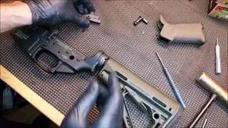 How to remove and install AR 15 Trigger