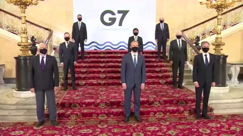 G7 ministers arrive for in-person meeting