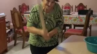 Italian Nonna Making Pasta with Muscle Power