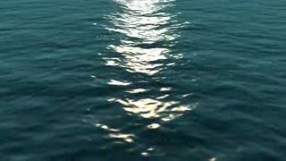 Open Ocean with Sunlight Reflection - Video
