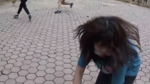 Funny folk games of Vietnam countryside - catch the chicken