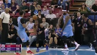 DeMarcus Cousins Chucks Ball at Chris Paul's Head - Video