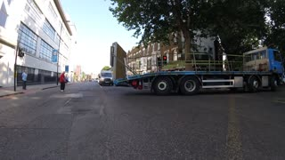 Lorry Nearly Left Hooks Cyclist - Video